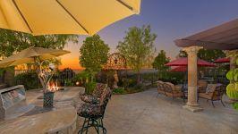 49 Hidden Trail  Prestigious Turtle Ridge Irvine With Forever Views! - Backyard Evening Views