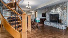370129 80 St W, Rural Foothills M.D. - Central Staircase To Lower Level