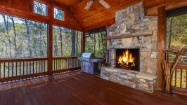 190 Mica Court, Bald Rock - Large Outdoor Screened In Living Room With Fireplace