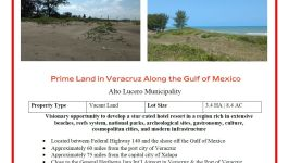 Oceanfront Land Along The Gulf In Veracruz, Mexico