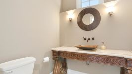 Serenity On The Sound - Main Level Powder Room Off Living Room & Dining Room.