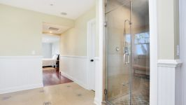 Serenity On The Sound - Steam Shower With Master Bedroom #1 In Background.