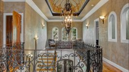 11507 Bistro Lane, Royal Oaks Country Club - Over 7,500 Square Feet Of The Purest And Most Tasteful Forward Thinking Design Greets You Upon Entry, Striating With The Eloquent Grandeur Of The Foyer With Double Santa Fe Iron Doors And Dramatic Staircase With Intricate Wrought Iron Railings, Al...