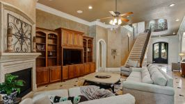 11507 Bistro Lane, Royal Oaks Country Club - Commanding Immediate Attention In The Living Room Is The Cast Stone Gas Fireplace Of Which Establishes An Intimacy For Unwinding After A Long Day.
