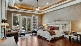 11507 Bistro Lane, Royal Oaks Country Club - Comfortable And Personal, The Master Suite Is Conducive To Restful Relaxation. This Owner's Oasis Adds A Heightened Level Of Pampering With Gorgeous Decorative Tray Ceiling, Wood Floors, Wood Grain Plantation Shutters And Private Access To The Poo...