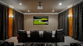 11507 Bistro Lane, Royal Oaks Country Club - Preview The Latest Blockbuster In The Upstairs Media Room Complete With Custom Theatre Lighting, Built Ins With Granite Counters And Beverage Fridge, Theatre Seating, Theatre Curtains And Generous Equipment Closet. The Projector, Screen And Seatin...