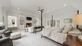 4181 Oak Rd - Master Bedroom With Woodburning Fireplace