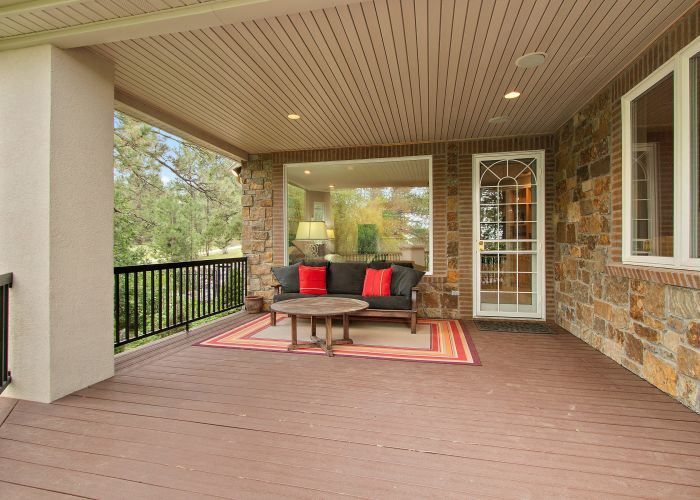 Covered Deck off Master