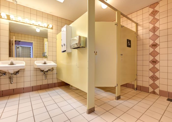 Woman's Bathroom meeting hall