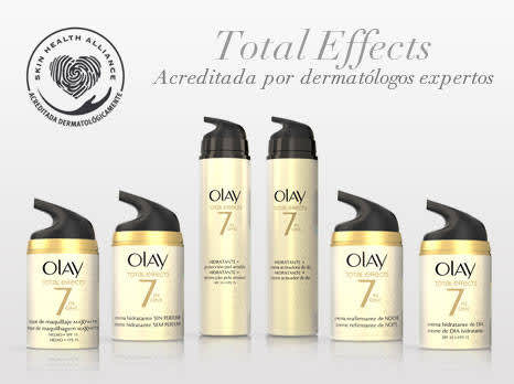 Olay Total Effects acreditada por los dermatólogos