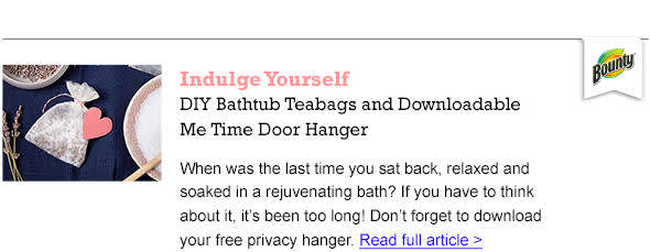 DIY Bathtub Teabags - Read the Article
