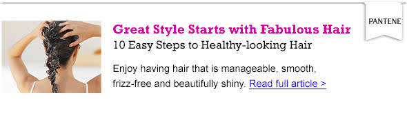 10 Easy steps to healthy-looking hair - Read the article
