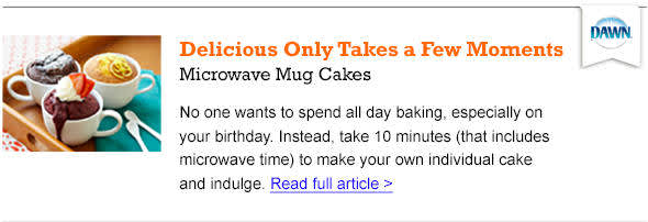 Microwave Mug Cakes - Read the article