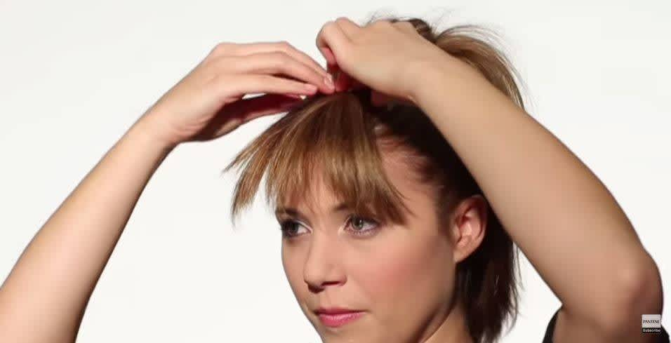 How to Make Fake Bangs - Step 3