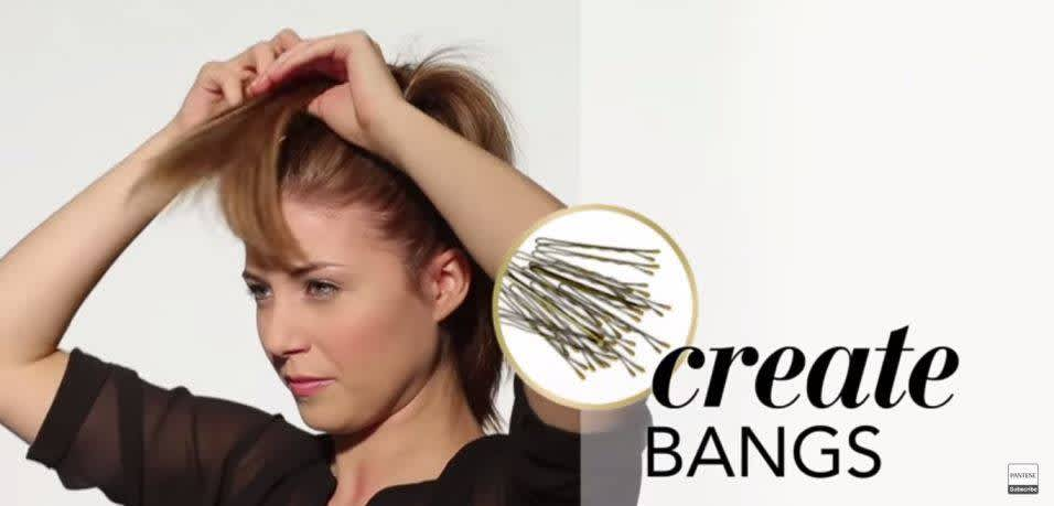 How to Make Fake Bangs - Step 2
