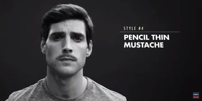 How to shave a Pencil Thin Mustache - Reward Me