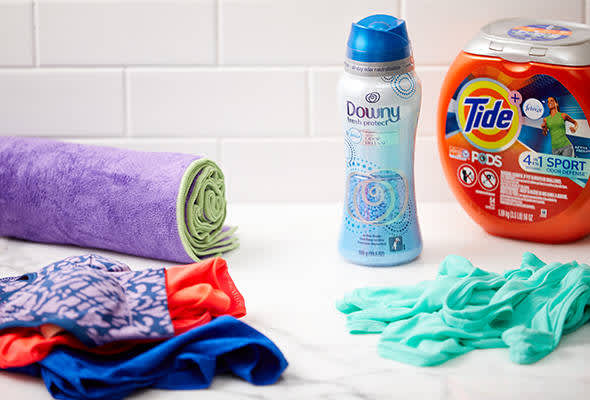 downy care for your workout gear