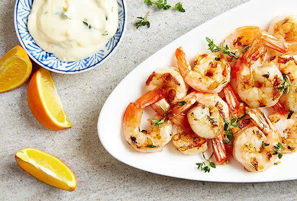citrus herb shrimp skewers