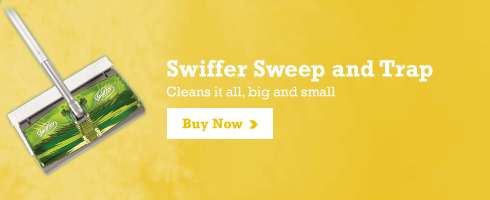 Swiffer Sweep and Trap Cleans it all, big and small Buy Now >