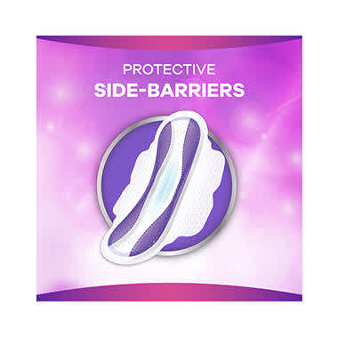 More protection with highly absorbing side-barriers (vs. Always Ultra)