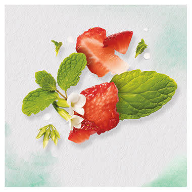 White Strawberry & Sweet Mint Conditioner helps enhance hair shine