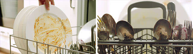 Load dishes and silverware evenly