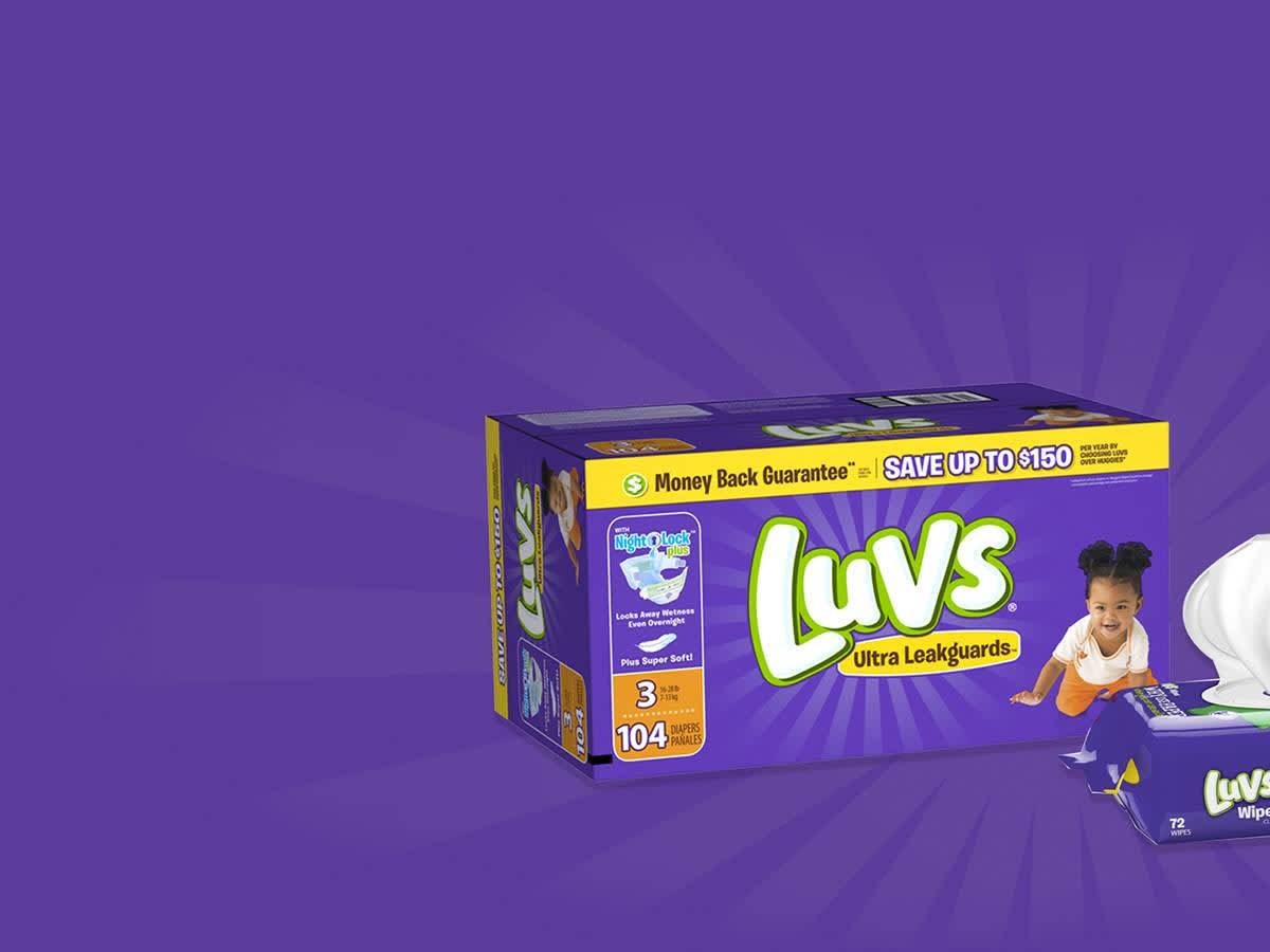 picture regarding Printable Luvs Coupons titled Luvs PG Daily