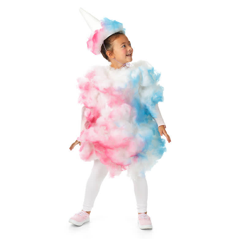 DIY Upcycled Halloween Costumes - Cotton Candy