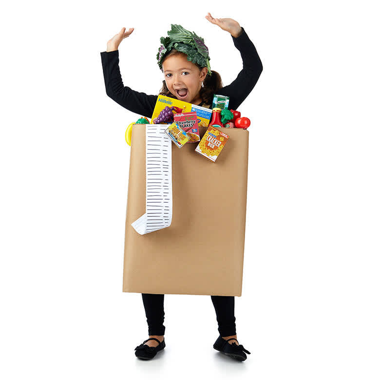 DIY Upcycled Halloween Costumes - Grocery Bag