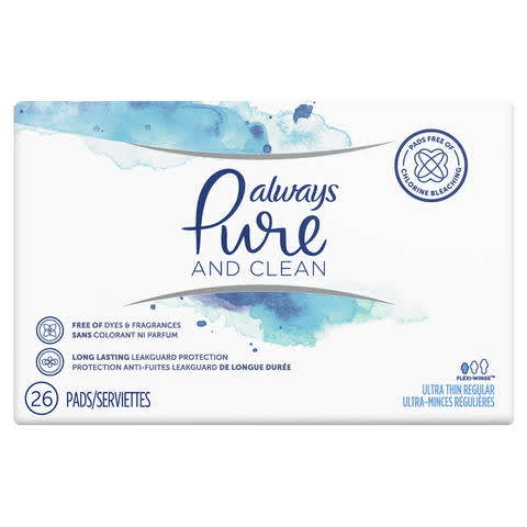 Always Pure and Clean Ultra Thin Pads With Wings | P&G Everyday