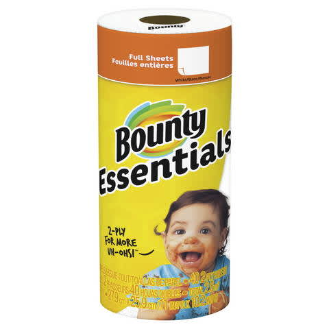 picture about Bounty Printable Coupons identify Bounty Fundamentals Paper Towels PG Day-to-day