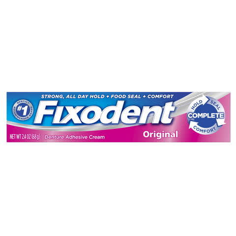 photograph about Fixodent Coupons Printable known as Fixodent Extensive Primary Denture Adhesive Product PG Daily