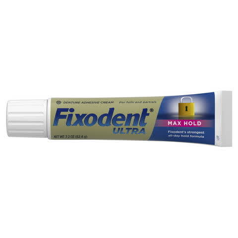 photo relating to Fixodent Coupons Printable called Fixodent Extremely Max Retain Dental Adhesive PG Every day
