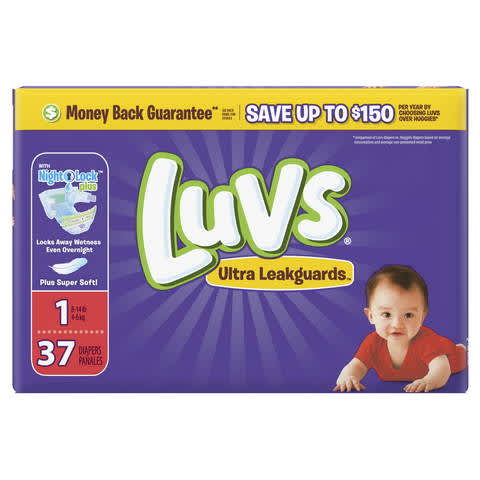 picture relating to Luvs Printable Coupons named Luvs Extremely Leakguards Diapers PG Day-to-day