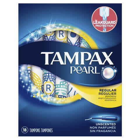 image regarding Tampax Coupon Printable named Tampax Pearl Plastic Tampons, Unscented PG Every day