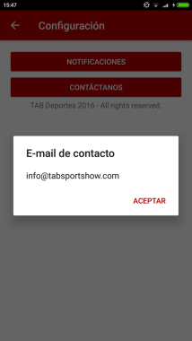 Email contacto | Tab Deportes