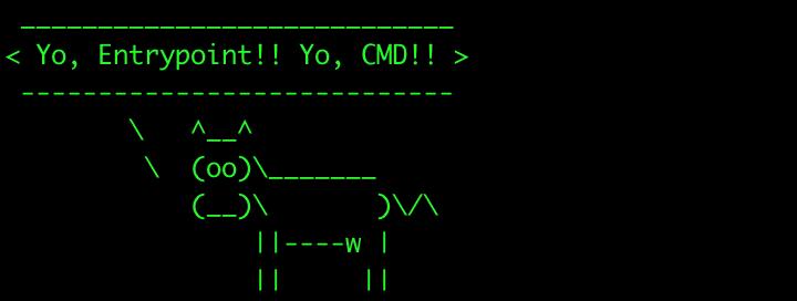 Ejemplo usando ENTRYPOINT y un CMD por defecto