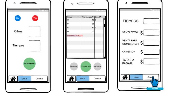 Mockups aplicación móvil