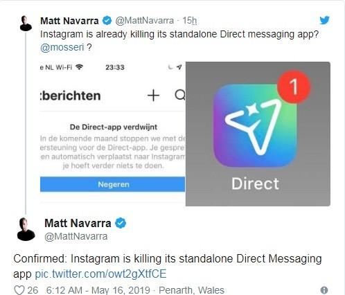 إنستجرام يوقف تطبيق Direct messaging ومميزاته الملحقة به