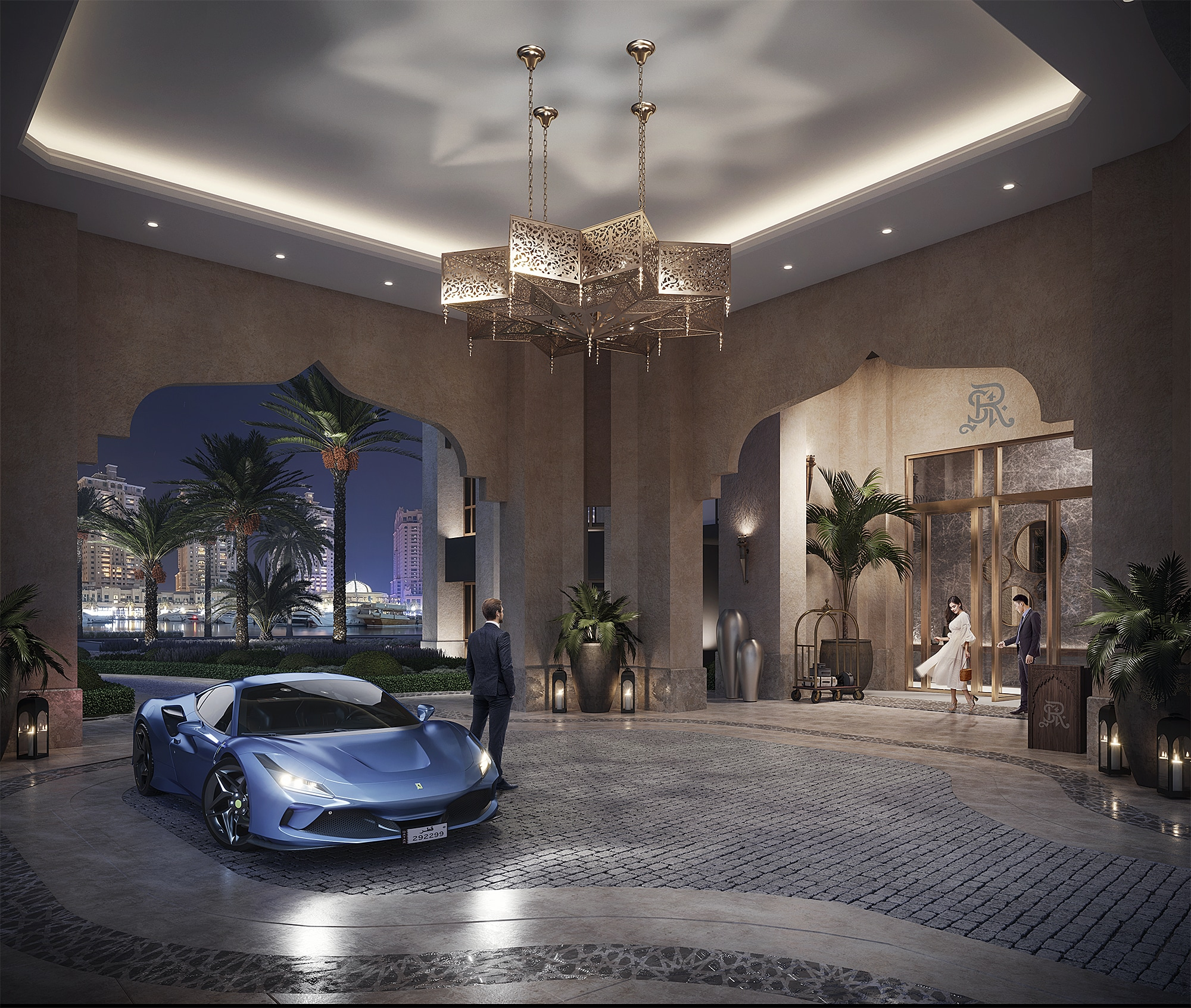 Residential Entrance at The Residences at The St Regis Marsa Arabia Island