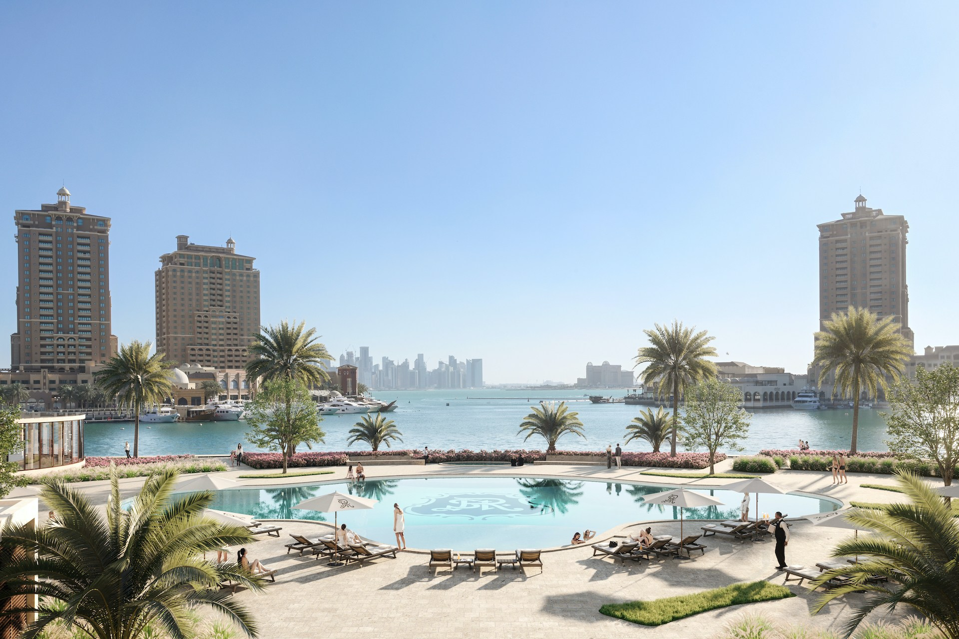 Hotel Pool at The St Regis Marsa Arabia Island