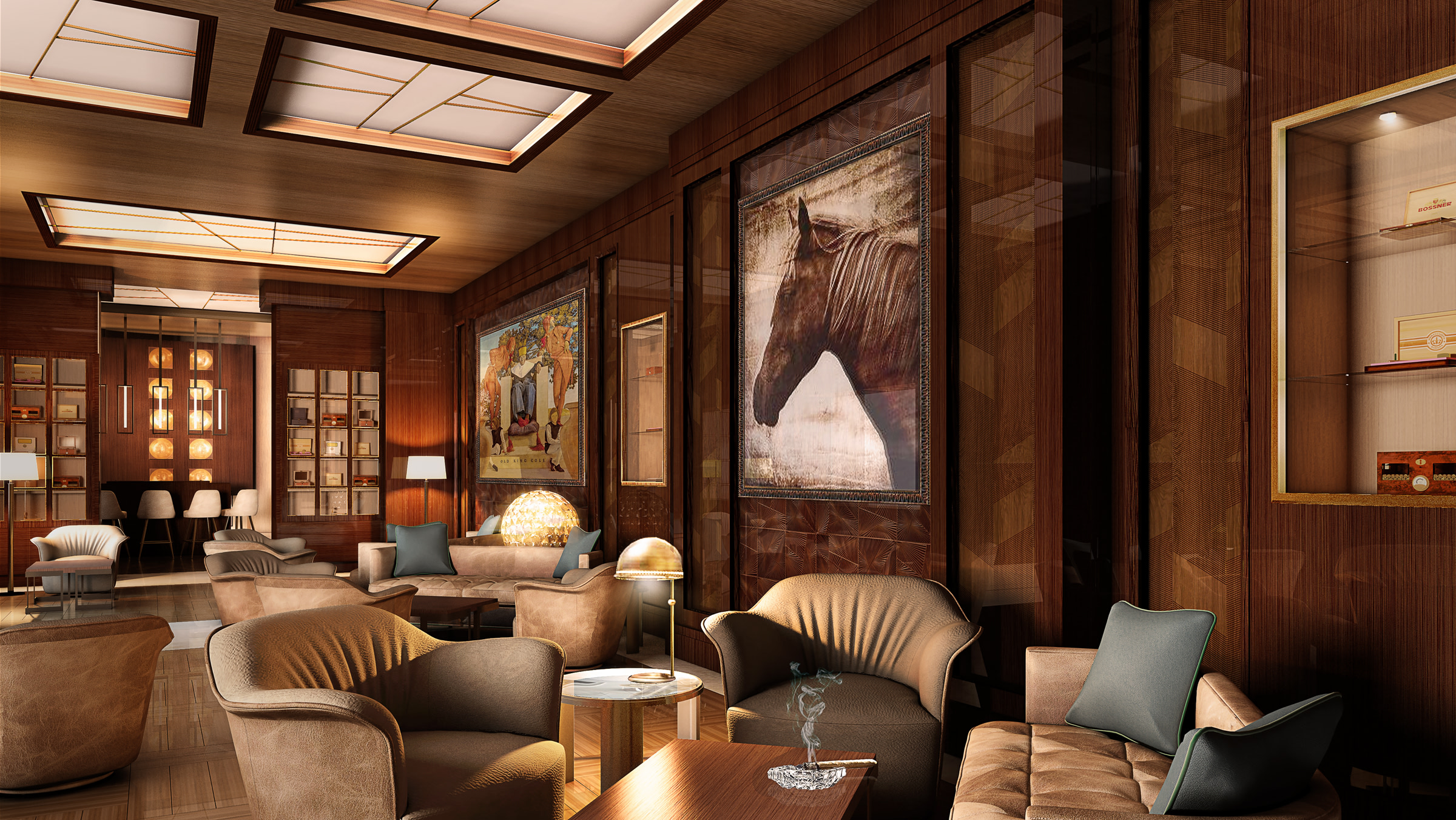 The Cigar Lounge at St Regis Marsa Arabia Island
