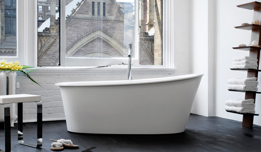 best material for freestanding tub. Freestanding Tub  Bath banner image QualityBath com