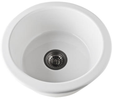 Rohl 6737 00 Allia 18 1 8 Quot Fireclay Round Prep Sink