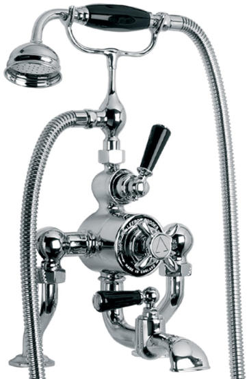Lefroy Brooks Bl8823 Classic 1900 Exposed Black Lever Thermostatic Bath Shower Valve
