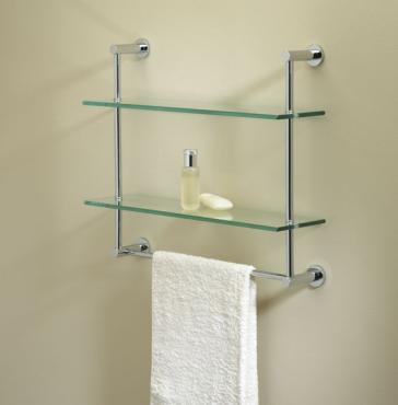 Valsan 57308 two tier shelf with towel bar qualitybathcom for Valsan bathrooms