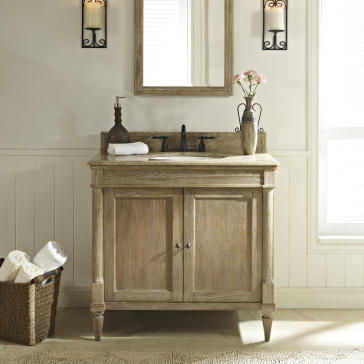 "fairmont designs 143-v36 rustic chic 36"" bathroom vanity"