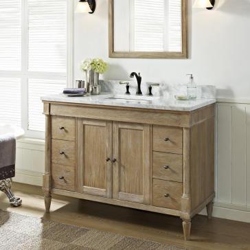 "Aria 48"" Bathroom Vanity (Carrara/White) - - Amazon.com"