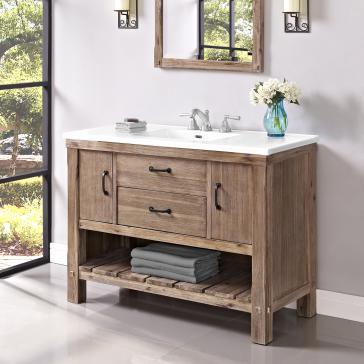 fairmont designs bathroom vanities image 4 fairmont designs vh48 napa 48 open shelf vanity - Fairmont Vanities