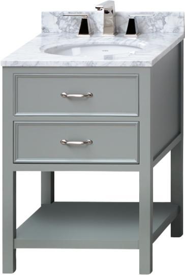 "Bathroom Vanities 24 X 16 ronbow 052724 newcastle 24-9/16"" bathroom vanity | qualitybath"
